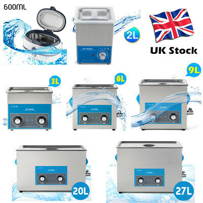 Pro. Stainless Ultrasonic Cleaner Ultra Sonic Bath Cleaning Tank Timer Heating