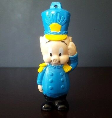 "*VINTAGE* 1989 ARBYS LOONEY TUNES PORKY PIG 3"" FIGURE Christmas Holiday Ornament"