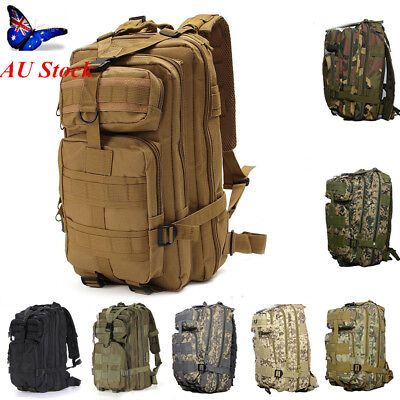 30L 8 Color Hiking Camping Bag Army Military Tactical Trekking Rucksack Backpack