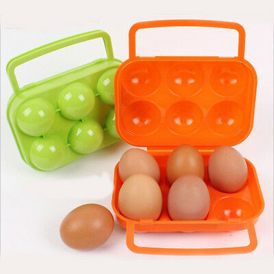 Portable Holder Carrier Folding Egg Storage Tray Waterproof Camping BBQ
