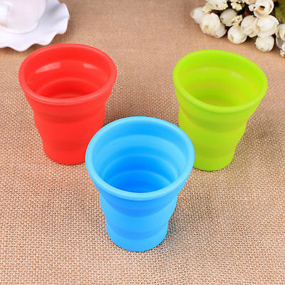 1Pc Portable Silicone Retractable Folding Cup Telescopic Collapsible Travel
