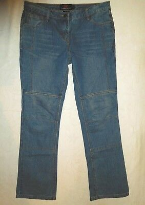 TORQUE Women's Motorcycle Bike Jeans - Kevlar Size L / 14 - Near New Draggin