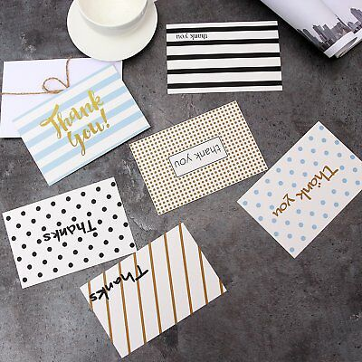 48 Pack Assorted Thank You Appreciation Cards for Wedding Graduation