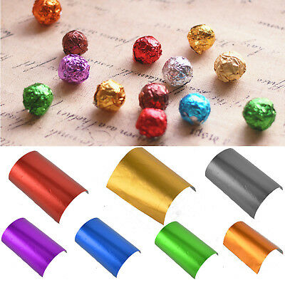 200pcs Square Candy Sweets Chocolate lolly Foil Wrappers Confectionary Party