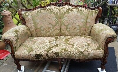 Old Vintage carved frame sofa.