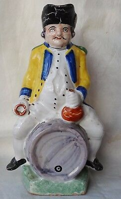 Antique 19Th C  Rare French Faience Pottery  Toby Jug