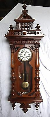 Huge Victorian 2 Weight Wall Clock     Delivery Available