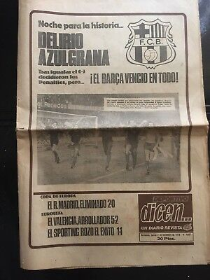 1978 Winners' Cup.2nd Round. FC barcelona - Anderlecht.  2nd leg