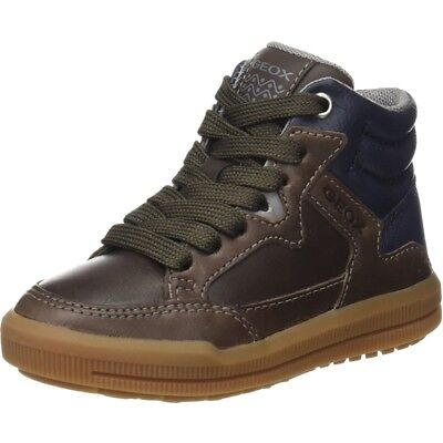 Geox J Arzach D Brown/Navy Leather Youth Boots