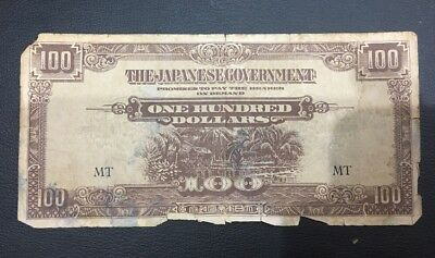 The Japanese  Government One Hundred Dollars note