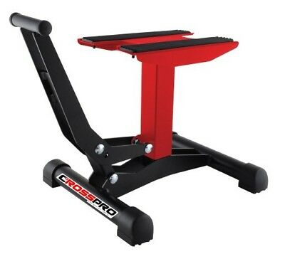 Cavalletto a Pedale Leva CrossPro Rosso Cross Enduro Bike Stand Xtreme Red