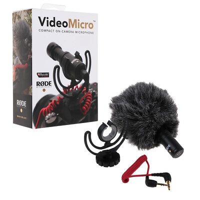 Rode VideoMicro Compact Rycote Lyre Shock Mount On-Camera Recording Microphone