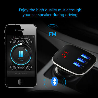 Wireless GPS Car Bluetooth 4.2 FM Transmitter Radio Adapter Car Kit Car Locator