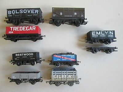 Hornby HO OO used assorted coal wagons freight cars for model train sets VGC!