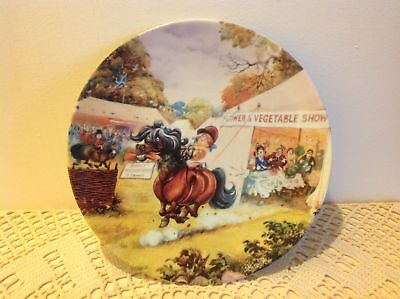 Royal Worcester The Flower Show, Thelwell's Ponies 1976 Decorative Plate.