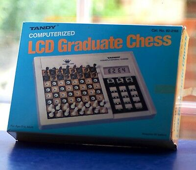 Vintage Boxed Tandy Computerized Portable Chess Electronic Game