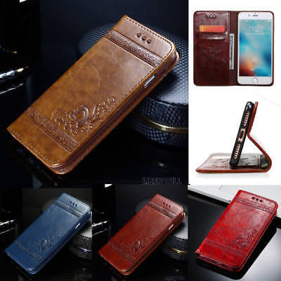 Genuine Leather Magnetic Flip Wallet Case Cover For Apple iPhone XS MAX XR 8 7