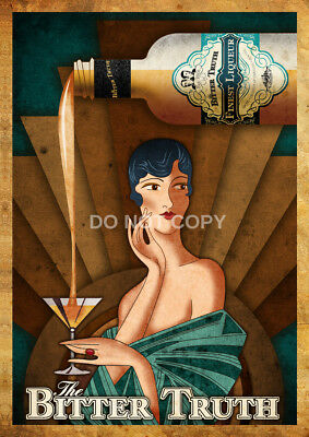 Art Deco Bitter Truth German Vintage / Modern A4 Glossy Photo Poster Print #6