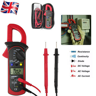 Digital Handheld Auto Range Clamp Multimeter DC/AC Volt Amp Voltage Meter Tester