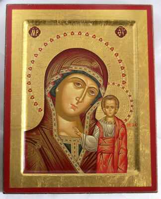 Wood Icon Plaque - Virgin Mary of Kazan