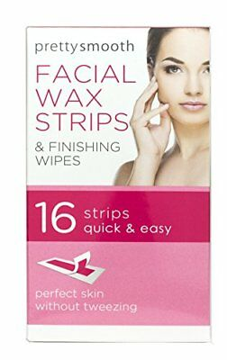 Pretty Smooth Facial Wax Strips & Finishing Wipes 16 Strips