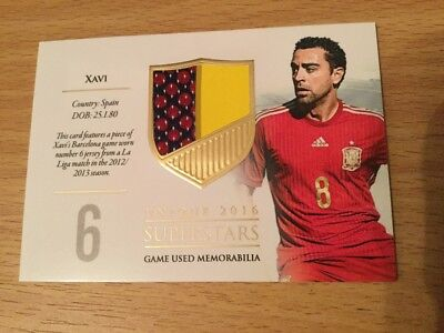 2016 Futera Unique Superstars Soccer Card Xavi 40/59