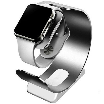 Aluminum Charging Dock Station Charger Holder Stand For Apple Watch iWatch Gray