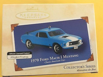 Mint 2002 Hallmark 1970 Ford Mustang Mach 1 Memory Card Never Opened Original