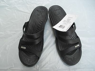 Crocs Patricia Wedge Sandals Black Women's Size 8 New with tags.