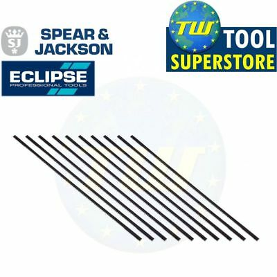 Eclipse 10pc Pack Super Fine Cut Replacement Coping Saw Wood Blades 14TPI 165mm