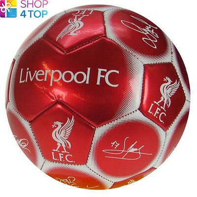 Liverpool Fc Red Signature Ball Size 5 Panel 32 Official Football Soccer New