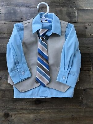 Toddler boys size 2t Great Guy 4 piece suit (shirt vest pants tie)