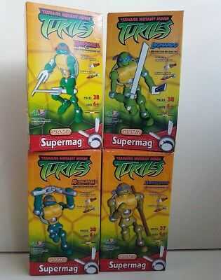 4x Supermag Ninja Turtles Raphael, Donatello, Leonardo, Michelangelo