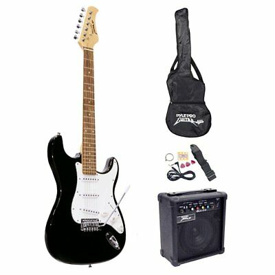 Electronics Features Pyle-Pro PEGKT15B Beginner Electric Guitar Package Black