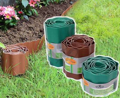 Lawn Border Edging Plastic Garden Grass Edge Fence Wall Driveway Roll Path Drive
