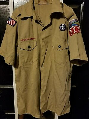 Boy Scout Cub Scout uniform shirt, Tan, short sleeve, size Youth XL