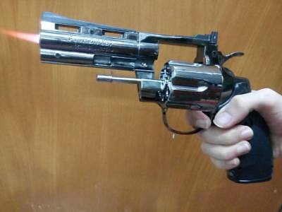 "23cm Revolver Lighter python cosplay police fbi 357 4"" costume prop windproof"
