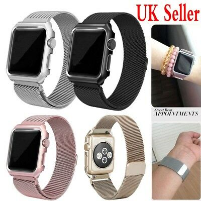 UK Sale Metal Magnetic Stainless Steel Wrist Band Strap For iWatch Apple Watch