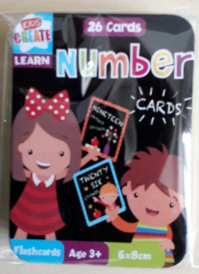 Learn Alphabet and Number Flashcards in a  Tin