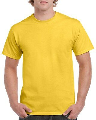 Yellow GILDAN 5000L Men's Plain 100% Cotton Blank T-shirt Tee sizes S - 2XL