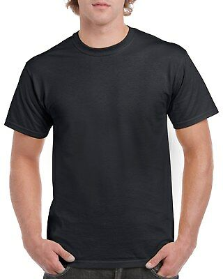 Black GILDAN 5000L Men's Plain 100% Cotton Blank T-shirt Tee sizes S - 2XL