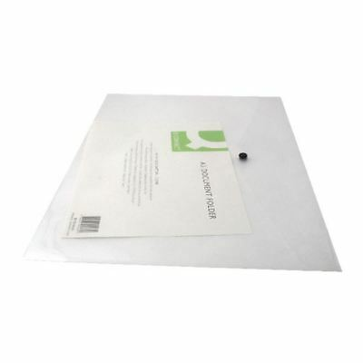 Q-Connect A3 Clear Polypropylene Popper Folder Pack of 12 KF02464 [KF02464]