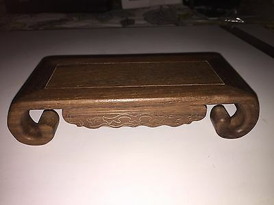 Carved wood stand base