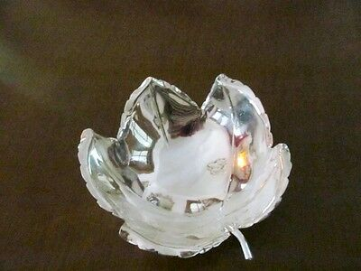 Sciarrotta Hand Made Sterling Silver Leaf Shape Bowl,shrieve Crump & Low Co.