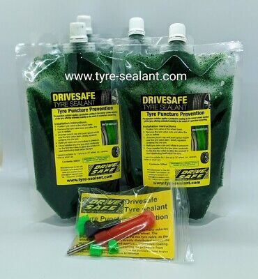 CAR TYRE SEALANT , TYRE PUNCTURE PREVENTION  CAR PACK 4 pouches