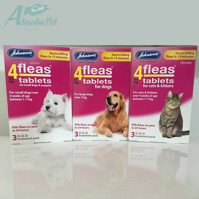 4fleas Tablets start killing fleas in 15 mins & kill all fleas  24 hours Dog Cat