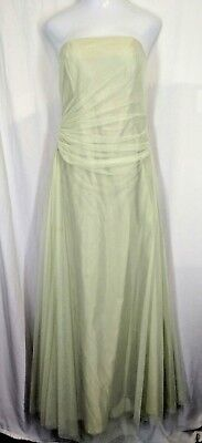 528d6994e3dd NWT VERA WANG Womens Pale Green Strapless Bridal Prom Quinceañera Dress  Size 12