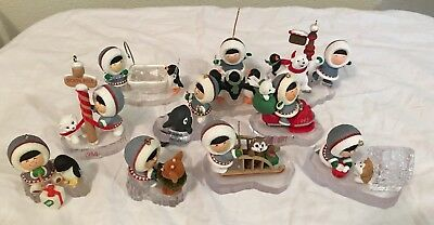 Lot of Hallmark FROSTY FRIENDS Various years 1984 - 1999 10 Pieces