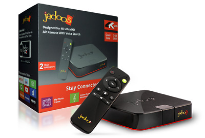 Jadoo 5 Android IPTV Setup Box With 2 Years Warranty & 2 Mobile Device Access.
