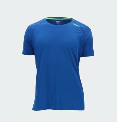 NWT 2XU Men's Urban Crew S/S Training Tech Top Shirt Blue Size 2XL. MR4079a